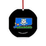 ILY Connecticut Ornament (Round)