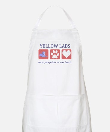 Yellow Lab Pawprints Apron