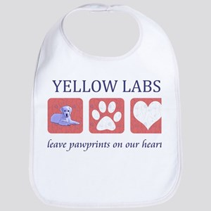 Yellow Lab Pawprints Bib