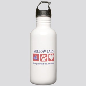 Yellow Lab Pawprints Stainless Water Bottle 1.0L