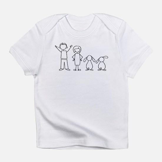 2 lop bunnies family Infant T-Shirt