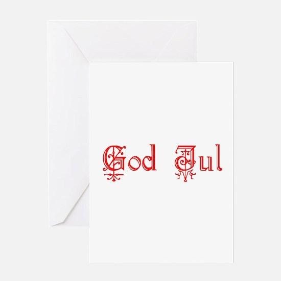 God Jul Greeting Card