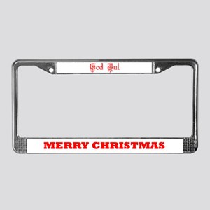 God Jul License Plate Frame