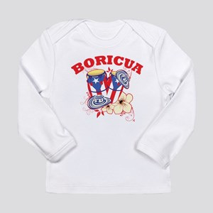 Puerto Rican Congas Long Sleeve Infant T-Shirt