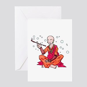 Monk Greeting Card