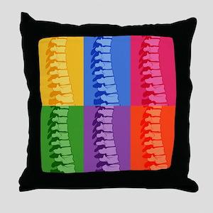 Spine Pop Art Throw Pillow