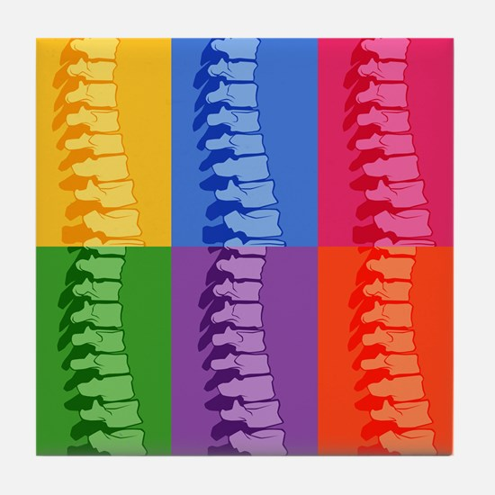 Spine Pop Art Tile Coaster