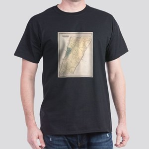 Vintage Map of Yonkers New York (1867) T-Shirt