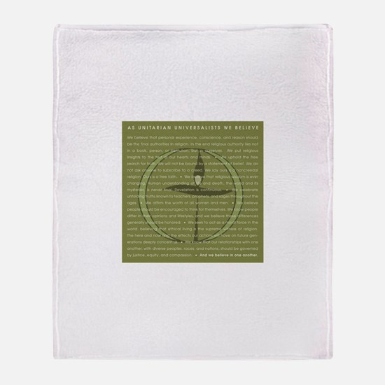 Funny Unitarian Throw Blanket
