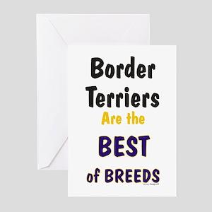 Border Terrier Best of Breeds Greeting Cards (Pack