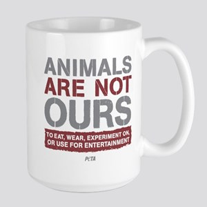 Animals Are Not Ours Large Mug