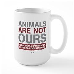 Animals Are Not Ours Large Mug Mugs