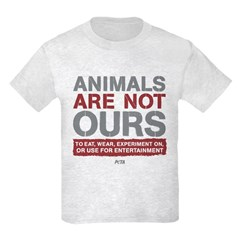 Animals Are Not Ours Kids Light T-Shirt