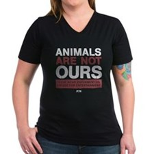 Animals Are Not Ours Women's V-Neck Dark T-Shi
