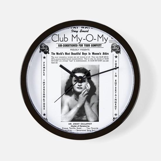 Drag Club Wall Clock