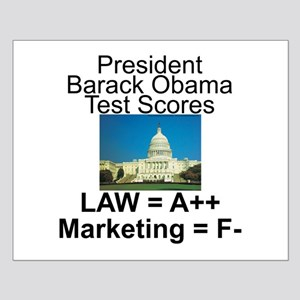 Obama's test scores Small Poster