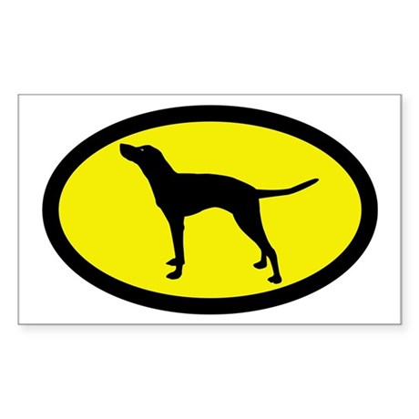 American English Coonhound Rectangle Sticker