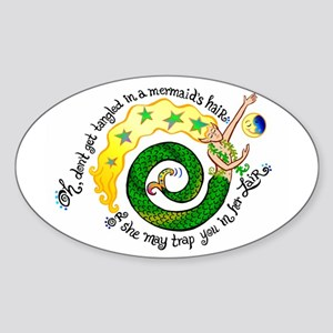 Don't get Tangled Sticker (Oval)