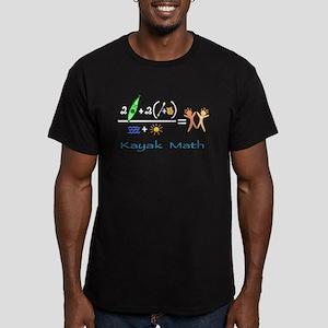 Kayak Math Men's Fitted T-Shirt (dark)