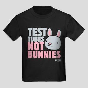 Test Tubes Not Bunnies Kids Dark T-Shirt