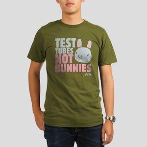 Test Tubes Not Bunnies Organic Men's T-Shirt (dark