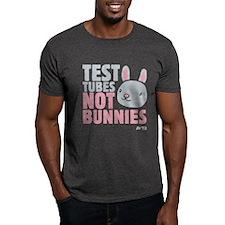 Test Tubes Not Bunnies Dark T-Shirt