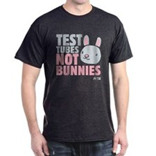 Test Tubes Not Bunnies Dark T-Shirt