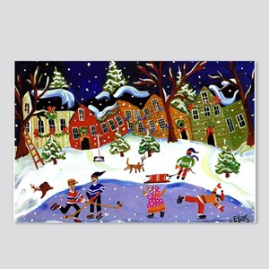 Folk Art Holiday Fun Postcards (Package of 8)