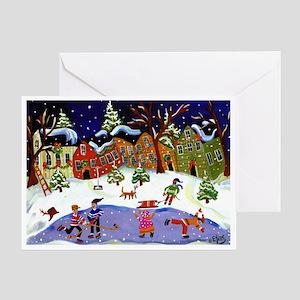 Folk Art Holiday Fun Greeting Card