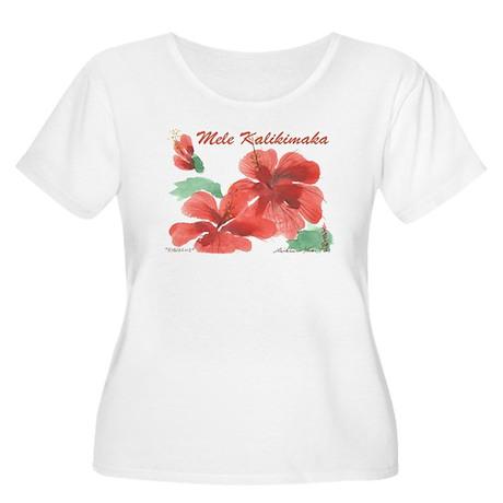 Hawaiian Hibiscus Women's Plus Size Scoop Neck T-S