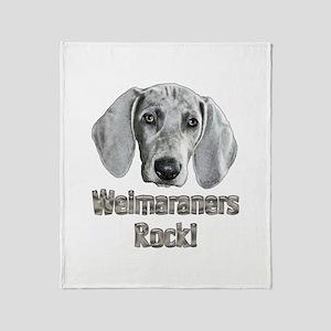 Weirmaraners Rock! Throw Blanket