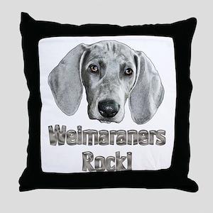 Weirmaraners Rock! Throw Pillow