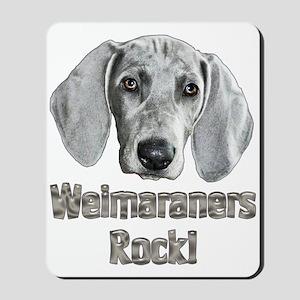 Weirmaraners Rock! Mousepad