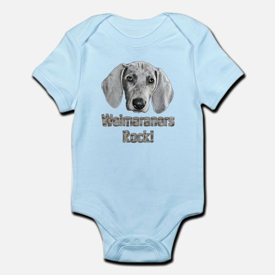 Weirmaraners Rock! Infant Bodysuit