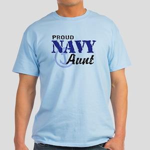 Proud Navy Aunt Light T-Shirt