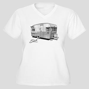 Shasta camper Women's Plus Size V-Neck T-Shirt