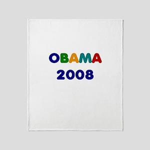 OBAMA 2008 Throw Blanket