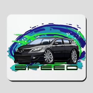 Black Speed3 Mousepad