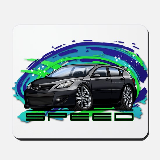 Black Speed3 Mousepad