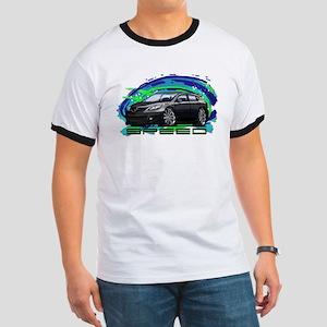 Black Speed3 Ringer T