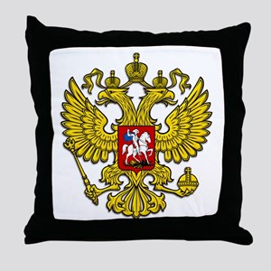 Russia Crest Throw Pillow