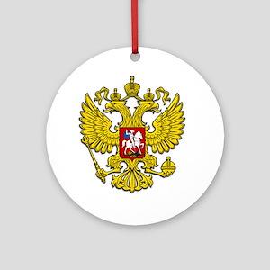 Russia Crest Ornament (Round)