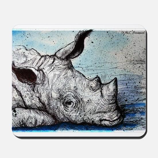 Wildlife, Rhino, Mousepad