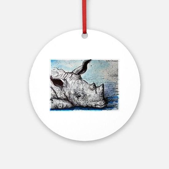 Wildlife, Rhino, Ornament (Round)