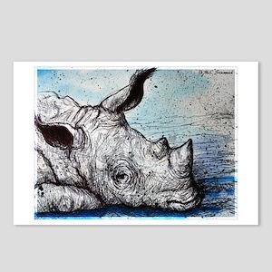 Wildlife, Rhino, Postcards (Package of 8)