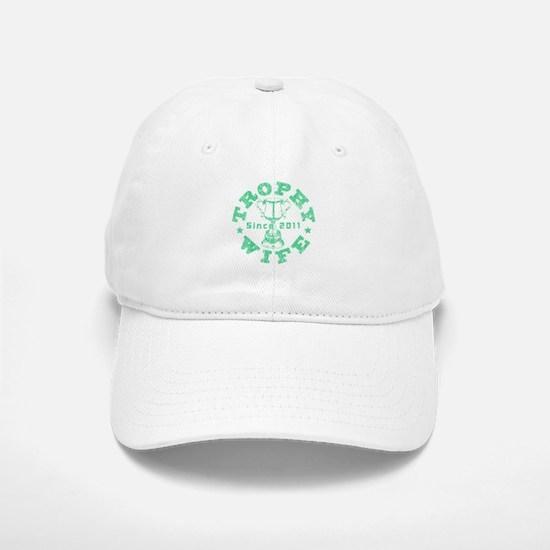 Trophy Wife Since 2011 mint green Baseball Baseball Cap