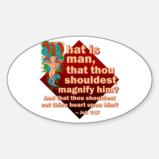 What Is Man Sticker (Oval)