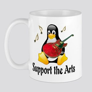Support The Arts Cute Penguin Mug