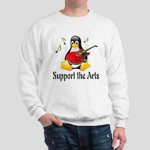 Support The Arts Cute Penguin Sweatshirt