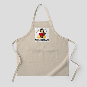 Support The Arts Cute Penguin Apron